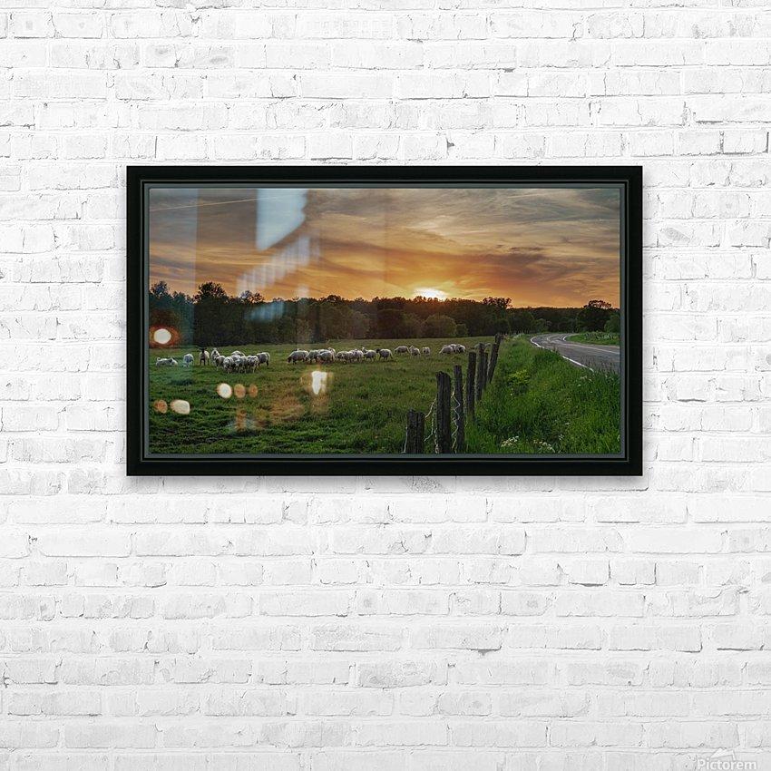 Au soleil couchant  HD Sublimation Metal print with Decorating Float Frame (BOX)