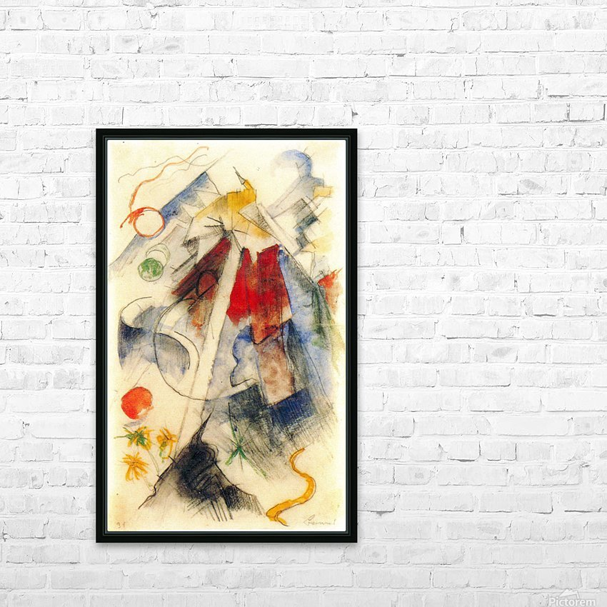 Sketch of the Brenner road -1- by Franz Marc HD Sublimation Metal print with Decorating Float Frame (BOX)