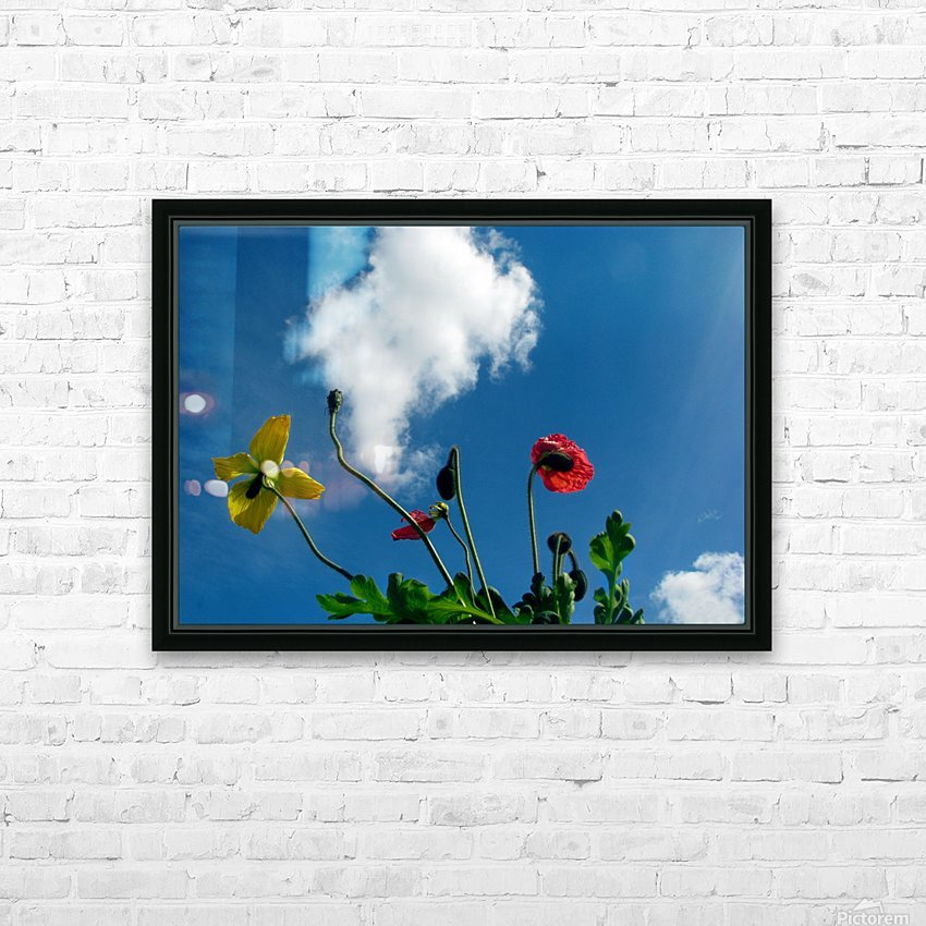 Happy Spring Flowers HD Sublimation Metal print with Decorating Float Frame (BOX)