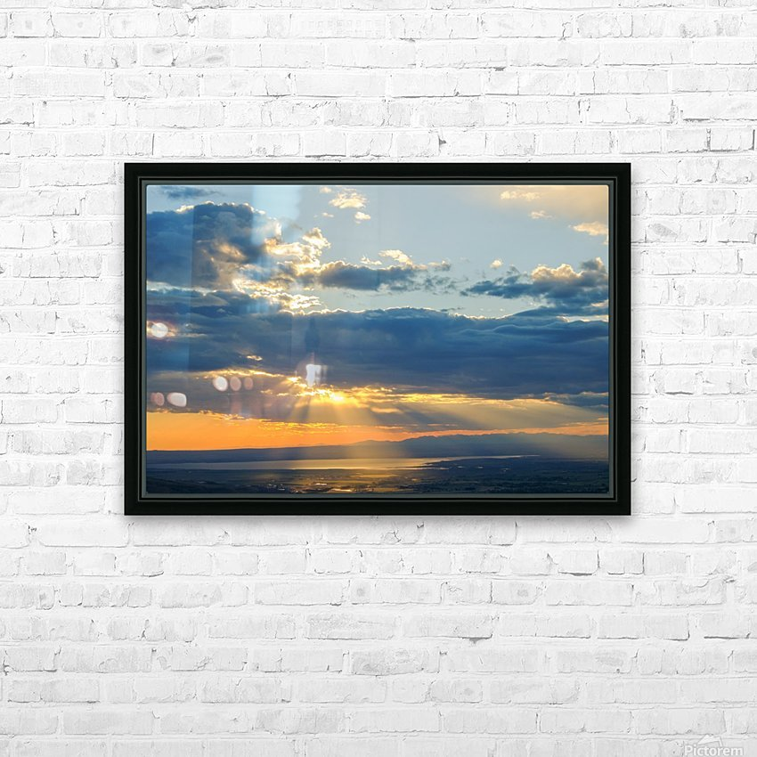 Portneuf Valley at Sunset HD Sublimation Metal print with Decorating Float Frame (BOX)