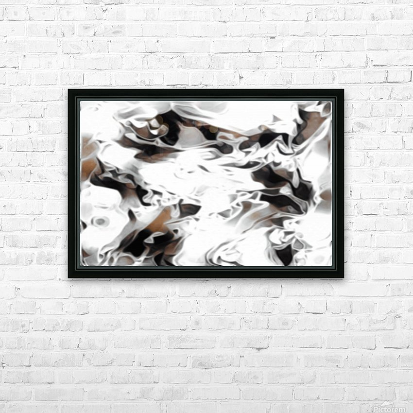 Brown Sugar & Coffee - brown grey white black swirls large abstract wall art HD Sublimation Metal print with Decorating Float Frame (BOX)