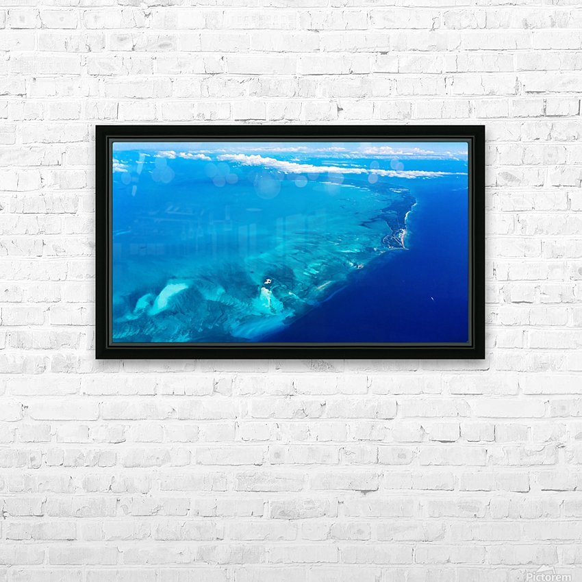 Island HD Sublimation Metal print with Decorating Float Frame (BOX)