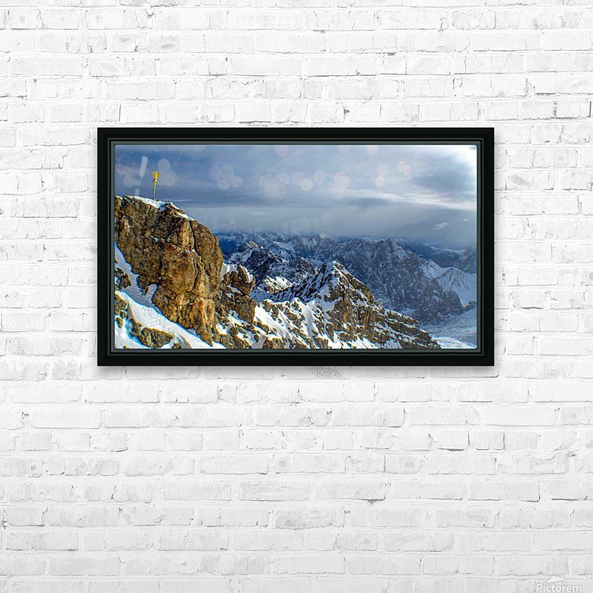 Zugspitze HD Sublimation Metal print with Decorating Float Frame (BOX)