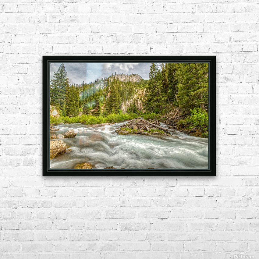 Periodic Spring Flowing into Swift Creek HD Sublimation Metal print with Decorating Float Frame (BOX)