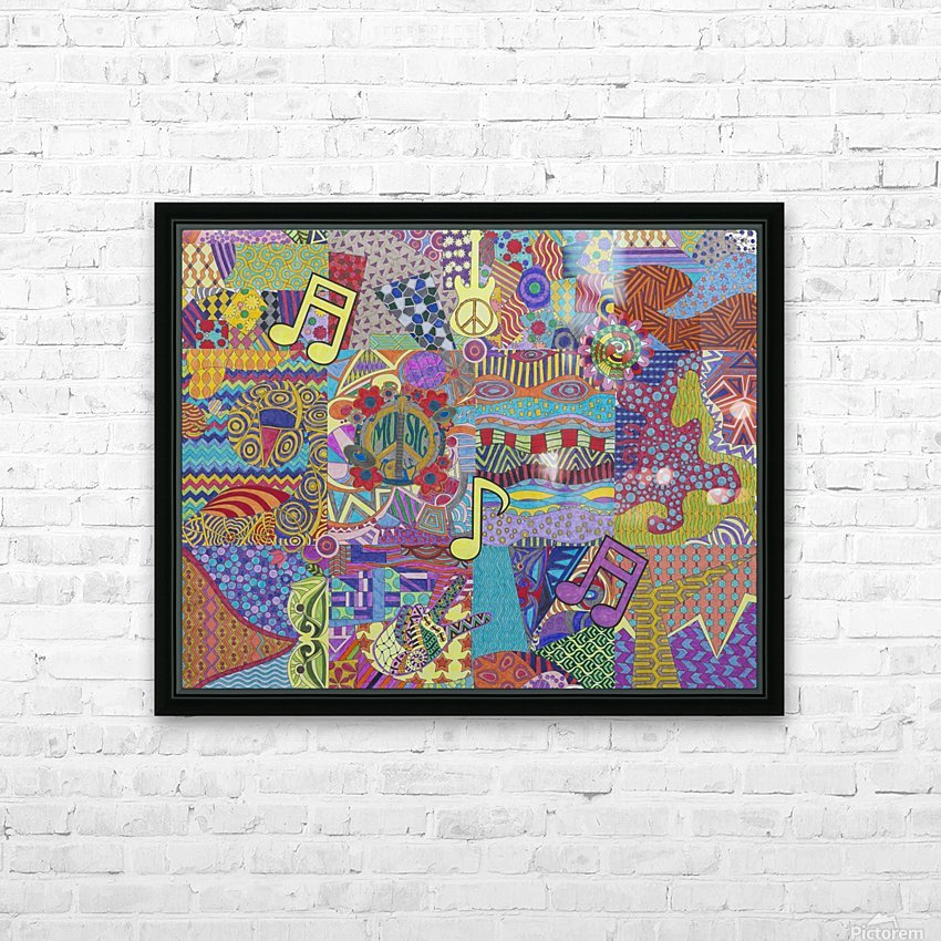 Jamming with Colour HD Sublimation Metal print with Decorating Float Frame (BOX)
