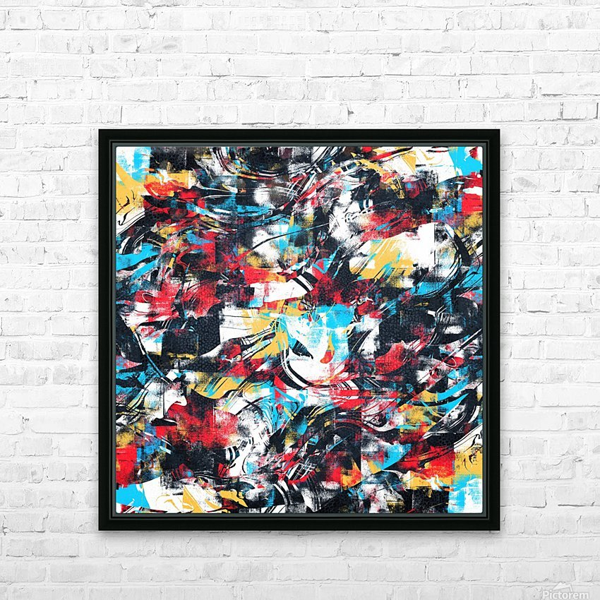 Abstract Flow II HD Sublimation Metal print with Decorating Float Frame (BOX)