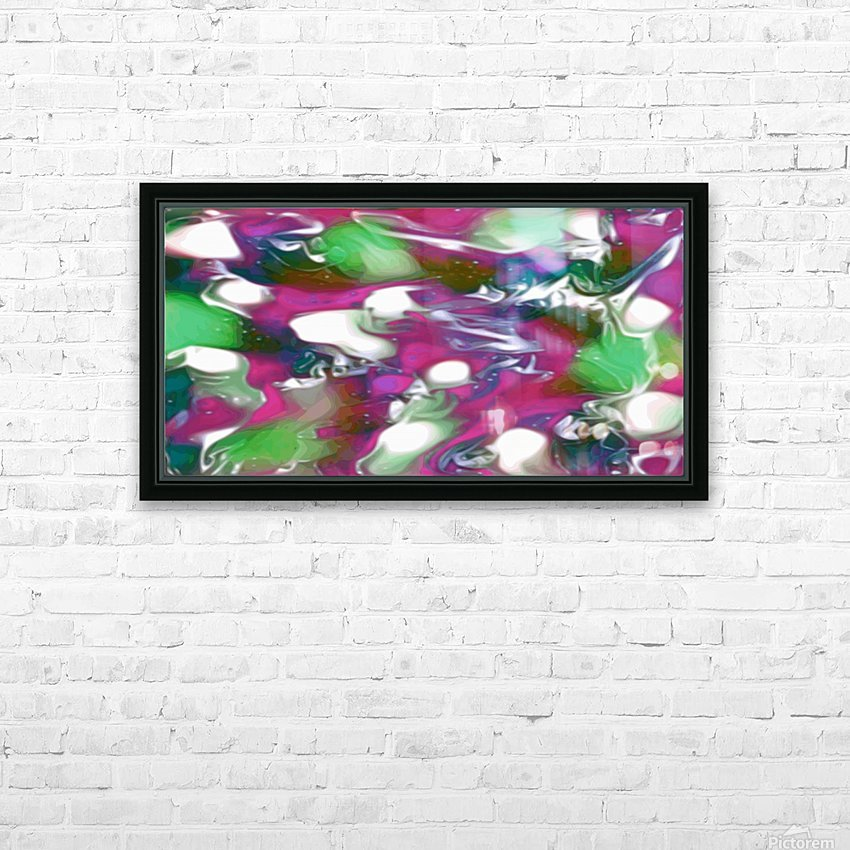 Plums & Lime with Mint Leaves - purple green white swirls and spots large abstract wall art HD Sublimation Metal print with Decorating Float Frame (BOX)