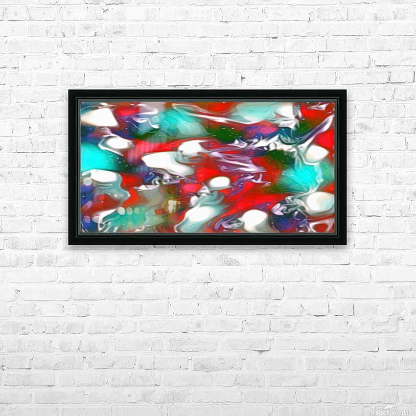 Cherries Limes & Blueberries - multicolor swirls and spots abstract wall art HD Sublimation Metal print with Decorating Float Frame (BOX)