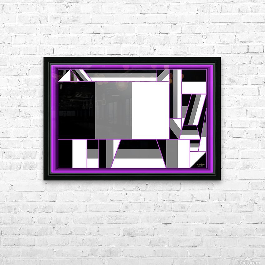 1-Not Everything is Just Black and White HD Sublimation Metal print with Decorating Float Frame (BOX)