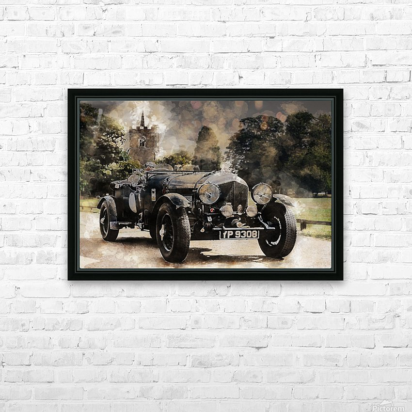 car automobile old timer automotive HD Sublimation Metal print with Decorating Float Frame (BOX)