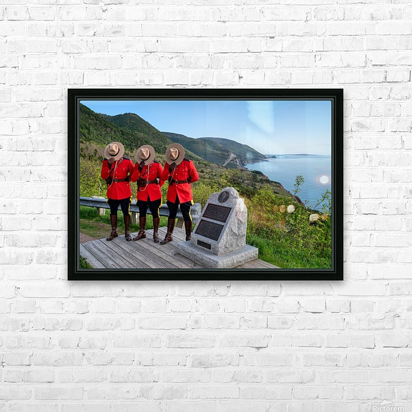 Respect and Honour - RCMP on French Mountain HD Sublimation Metal print with Decorating Float Frame (BOX)