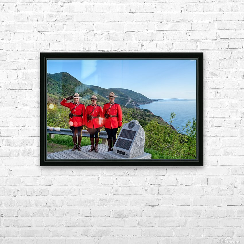 RCMP on French Mountain HD Sublimation Metal print with Decorating Float Frame (BOX)