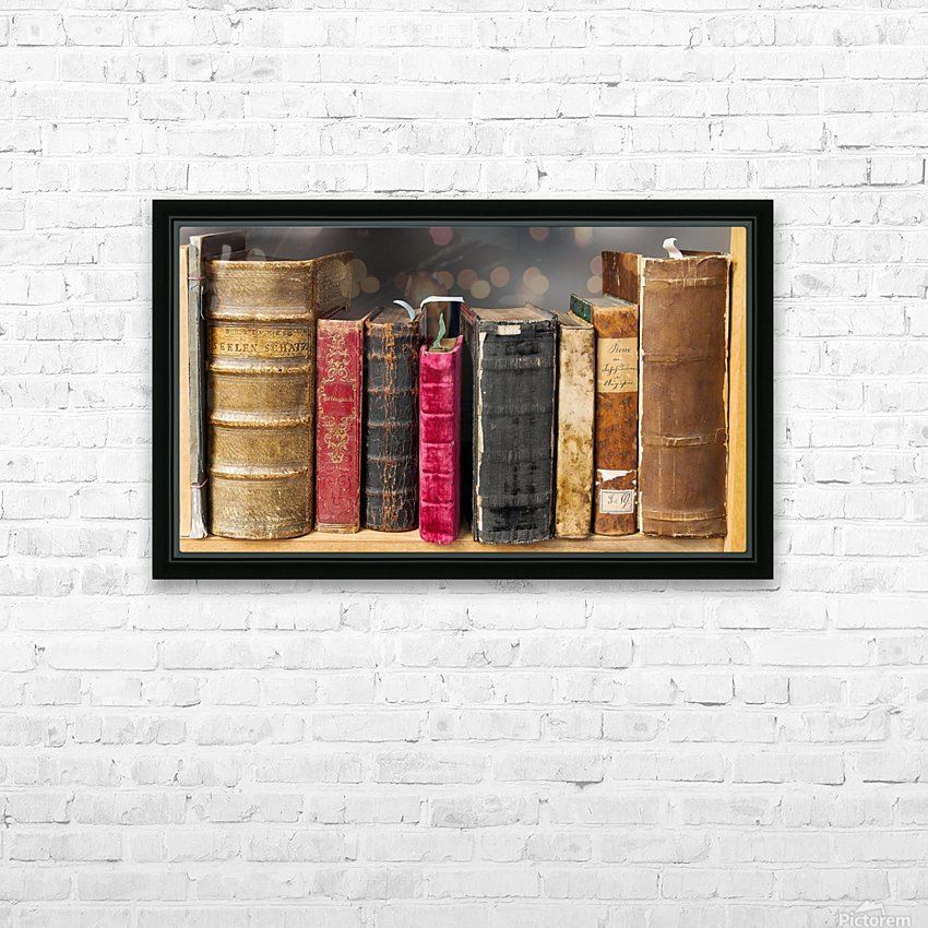 book read old literature pages HD Sublimation Metal print with Decorating Float Frame (BOX)