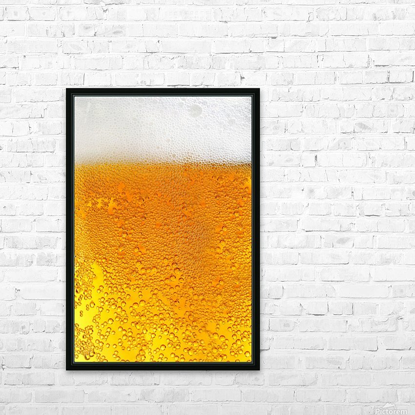 Beer Bubbles pattern HD Sublimation Metal print with Decorating Float Frame (BOX)
