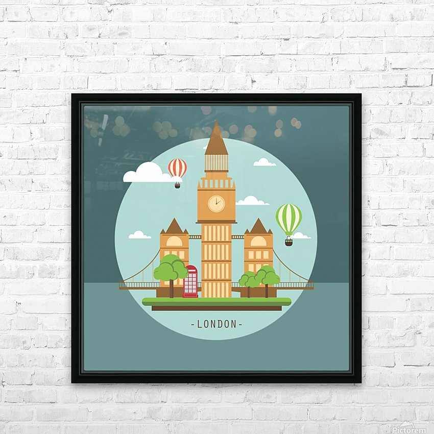 london watch landmark england HD Sublimation Metal print with Decorating Float Frame (BOX)
