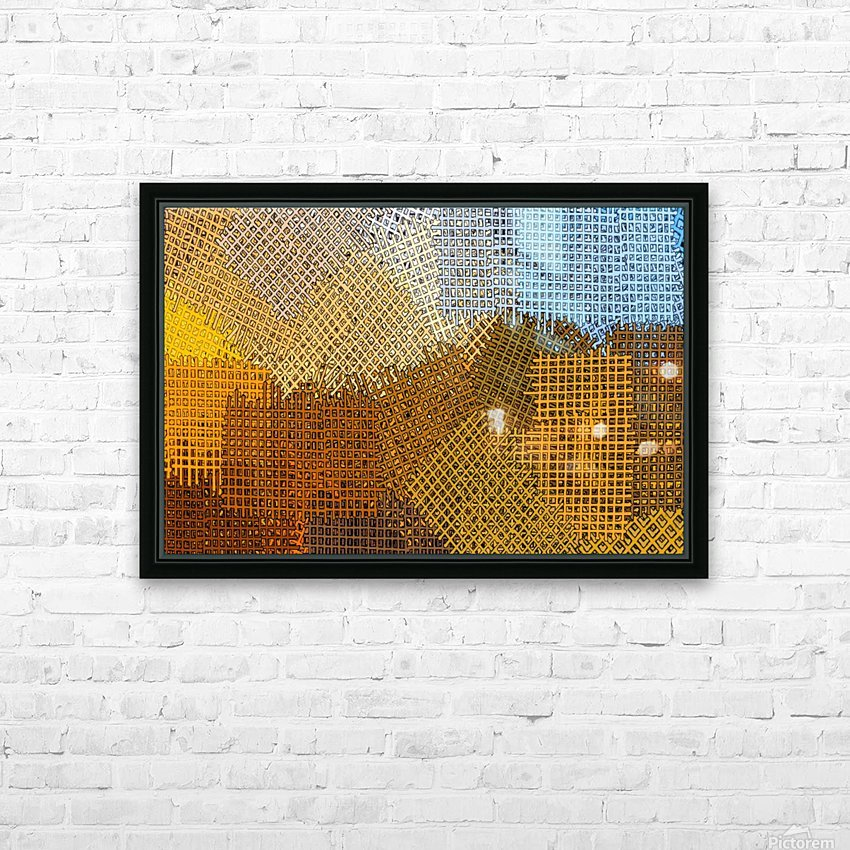 color colors abstract yellow brown HD Sublimation Metal print with Decorating Float Frame (BOX)