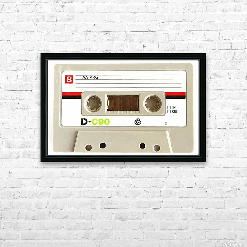 cassette tape recorder vintage old HD Sublimation Metal print with Decorating Float Frame (BOX)