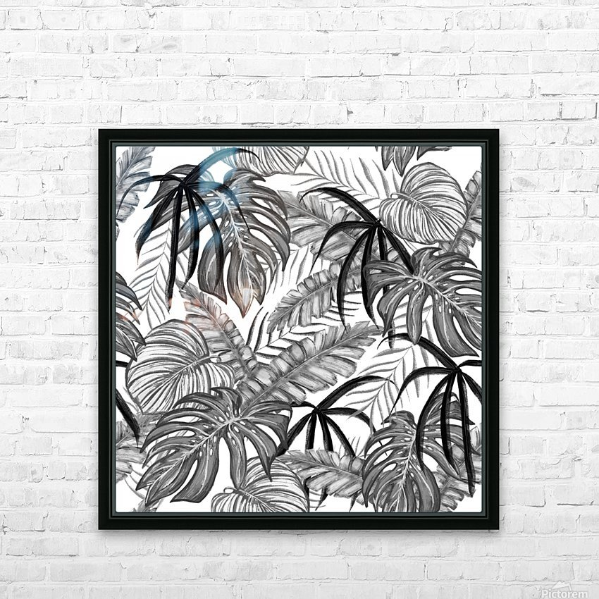 drawing leaves nature picture HD Sublimation Metal print with Decorating Float Frame (BOX)