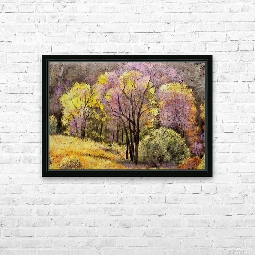 outdoor nature natural woods HD Sublimation Metal print with Decorating Float Frame (BOX)