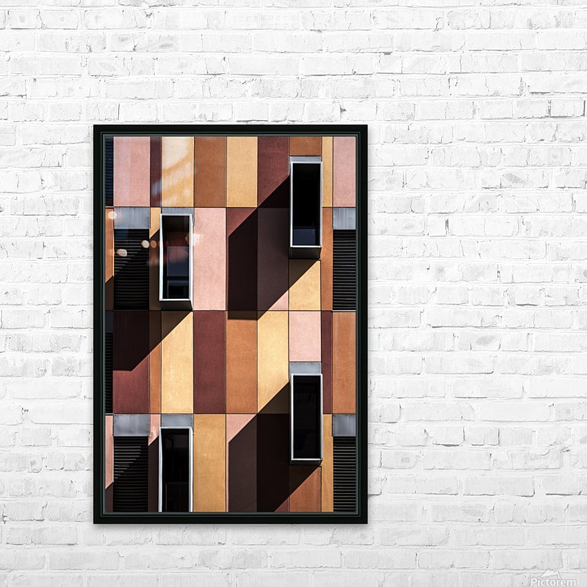 architectural design architecture building colors HD Sublimation Metal print with Decorating Float Frame (BOX)
