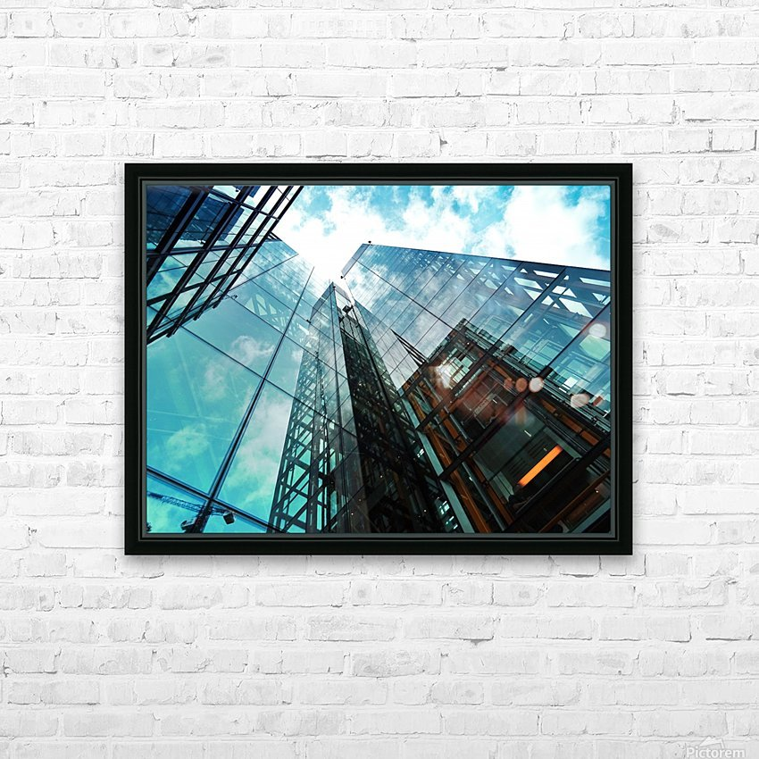 architectural design architecture building business HD Sublimation Metal print with Decorating Float Frame (BOX)