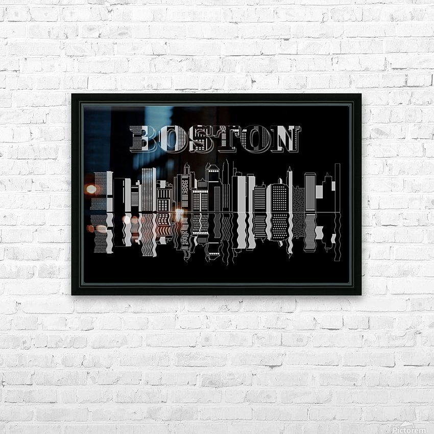 Boston cityscape buildings skyscrapers HD Sublimation Metal print with Decorating Float Frame (BOX)