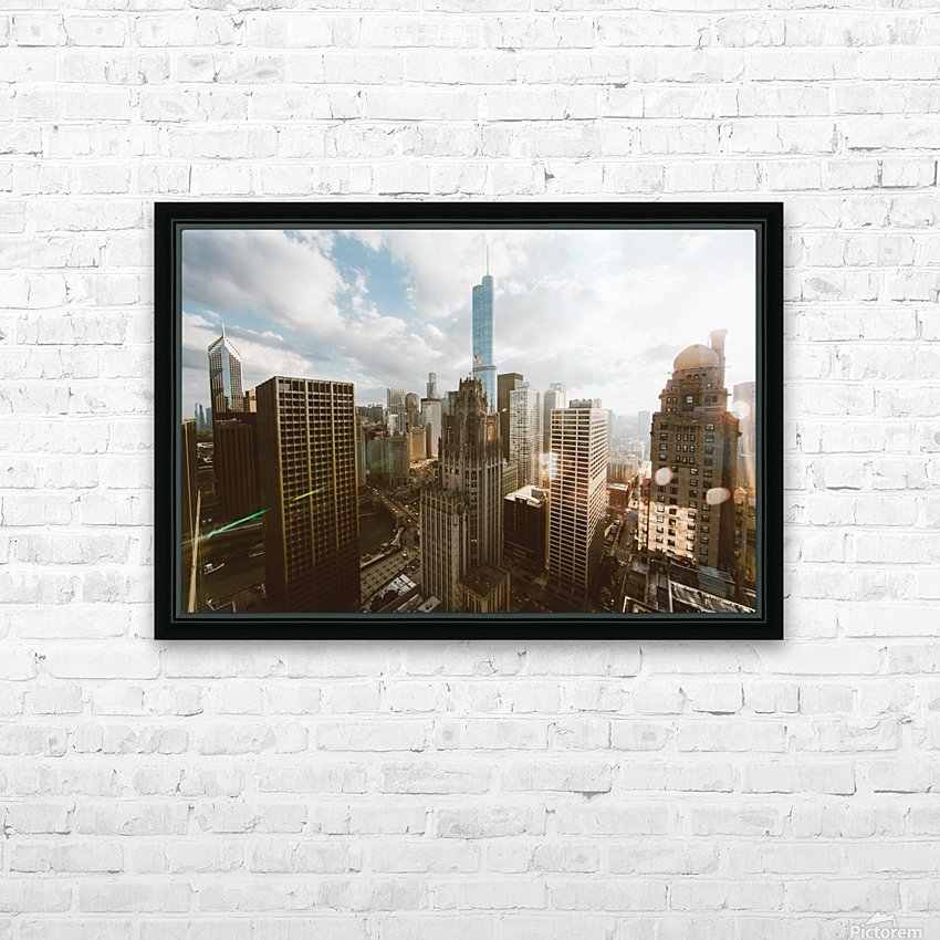 architectural design architecture buildings city HD Sublimation Metal print with Decorating Float Frame (BOX)