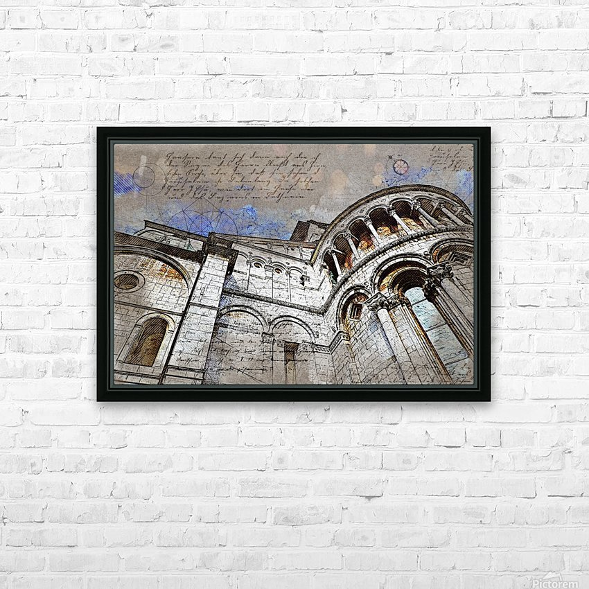building architecture columns HD Sublimation Metal print with Decorating Float Frame (BOX)