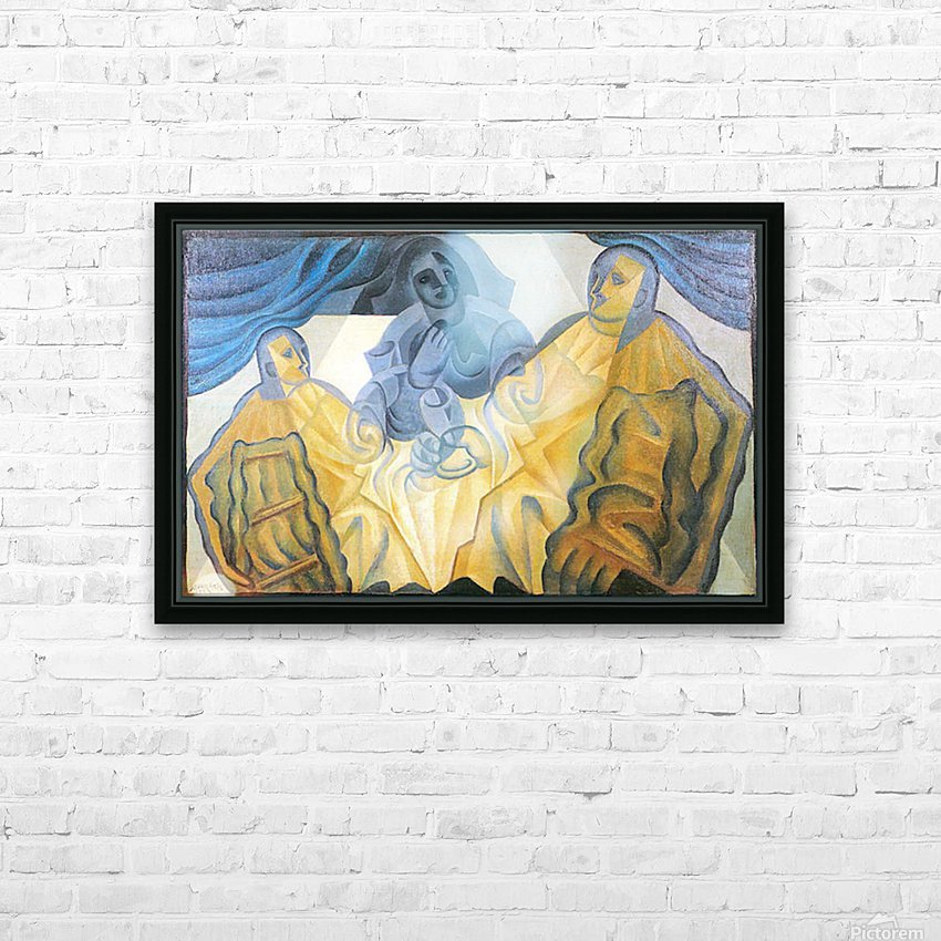 Three masks by Juan Gris HD Sublimation Metal print with Decorating Float Frame (BOX)