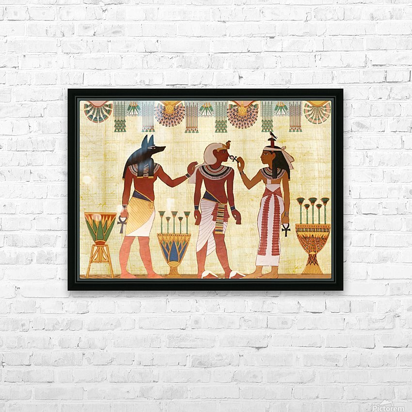 egyptian design man woman priest HD Sublimation Metal print with Decorating Float Frame (BOX)