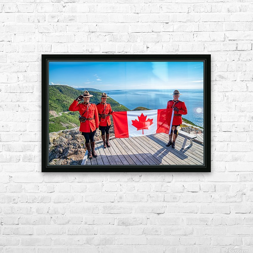 We Stand on Guard for Thee HD Sublimation Metal print with Decorating Float Frame (BOX)