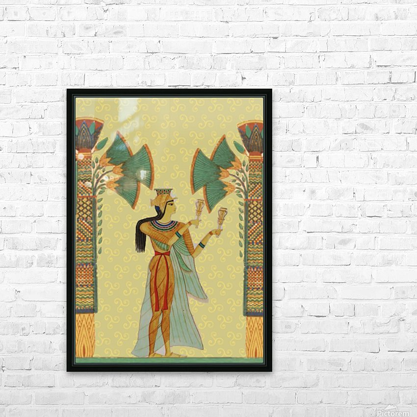 egyptian design man artifact royal HD Sublimation Metal print with Decorating Float Frame (BOX)
