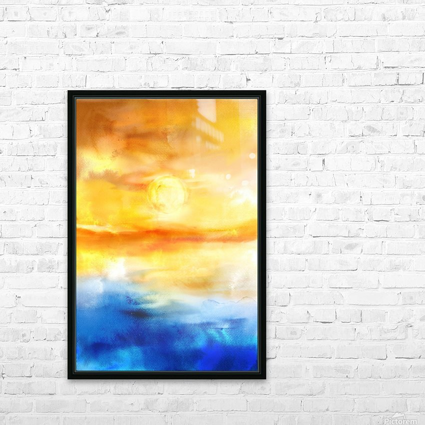 Abstract Warm Sunset I HD Sublimation Metal print with Decorating Float Frame (BOX)