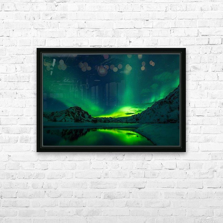 iceland aurora borealis HD Sublimation Metal print with Decorating Float Frame (BOX)