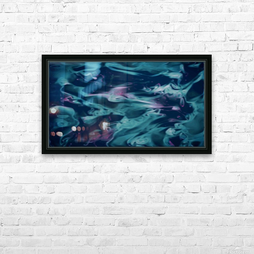 Magic Snake - turquoise blue purple swirls abstract wall art HD Sublimation Metal print with Decorating Float Frame (BOX)