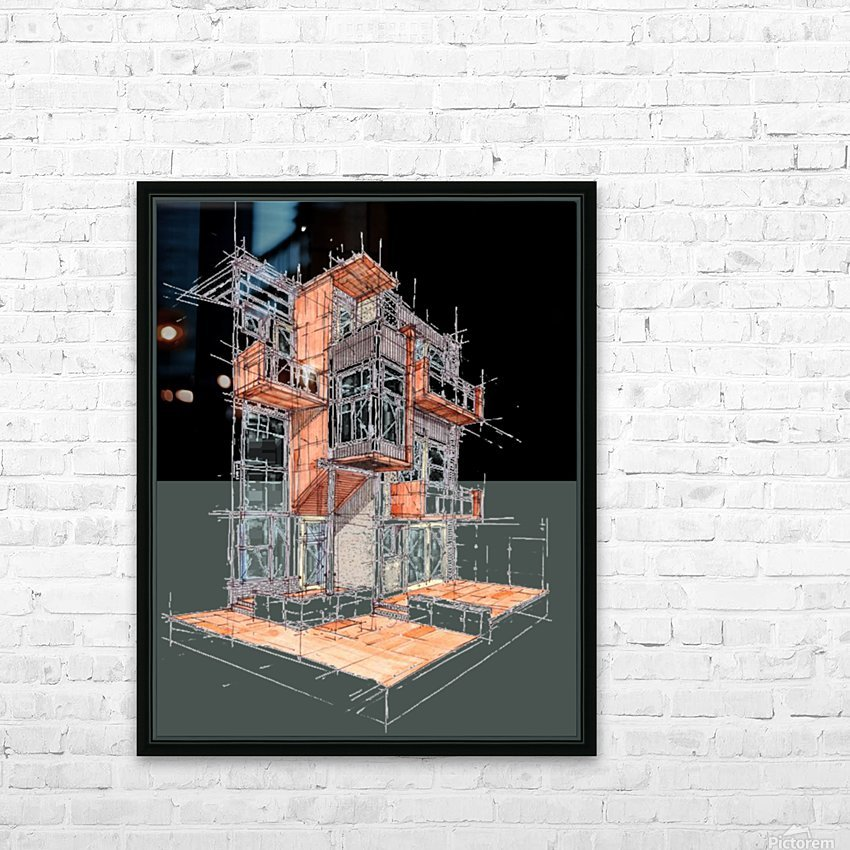 rag flats onion flats llc architecture drawing graffiti architecture HD Sublimation Metal print with Decorating Float Frame (BOX)