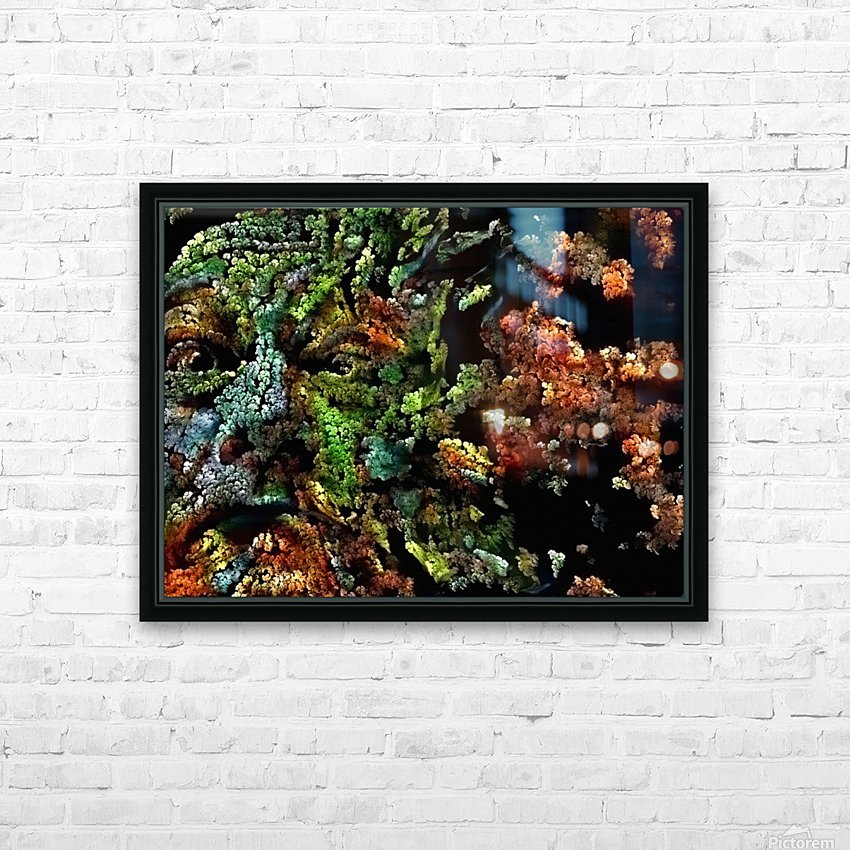 The Face of Nature HD Sublimation Metal print with Decorating Float Frame (BOX)