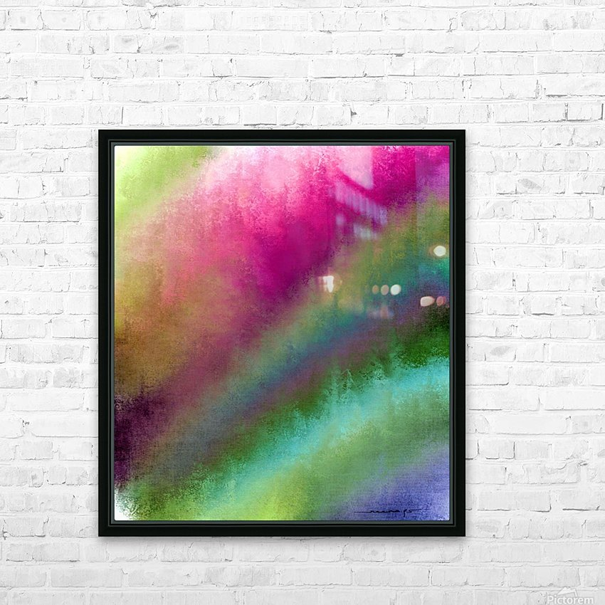 Color Burst - Flower Field HD Sublimation Metal print with Decorating Float Frame (BOX)