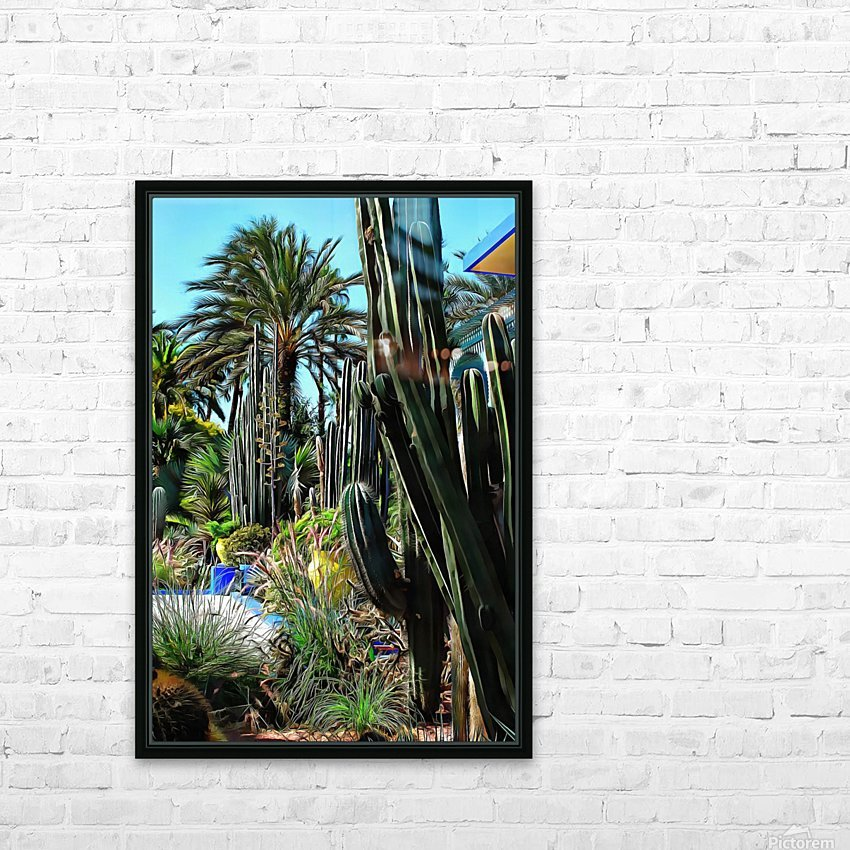 Giant Cacti Jardin Majorelle Marrakech HD Sublimation Metal print with Decorating Float Frame (BOX)