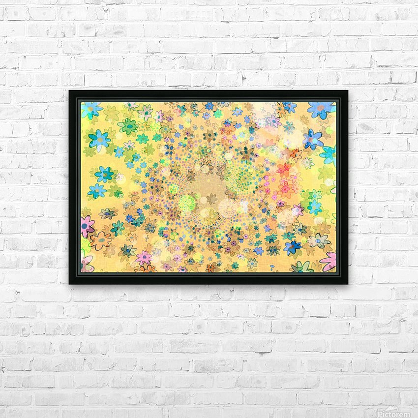 flowers color colorful watercolour HD Sublimation Metal print with Decorating Float Frame (BOX)