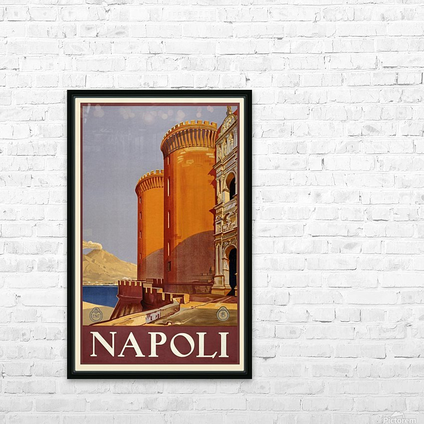 vintage travel travel poster poster HD Sublimation Metal print with Decorating Float Frame (BOX)