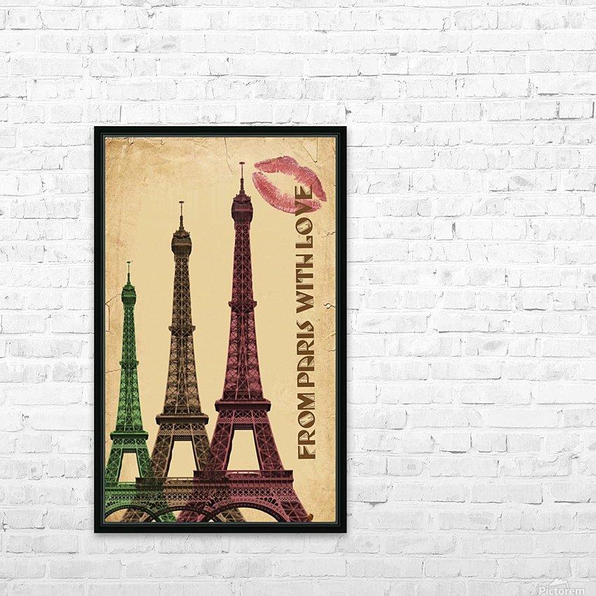 france paris paris france city HD Sublimation Metal print with Decorating Float Frame (BOX)
