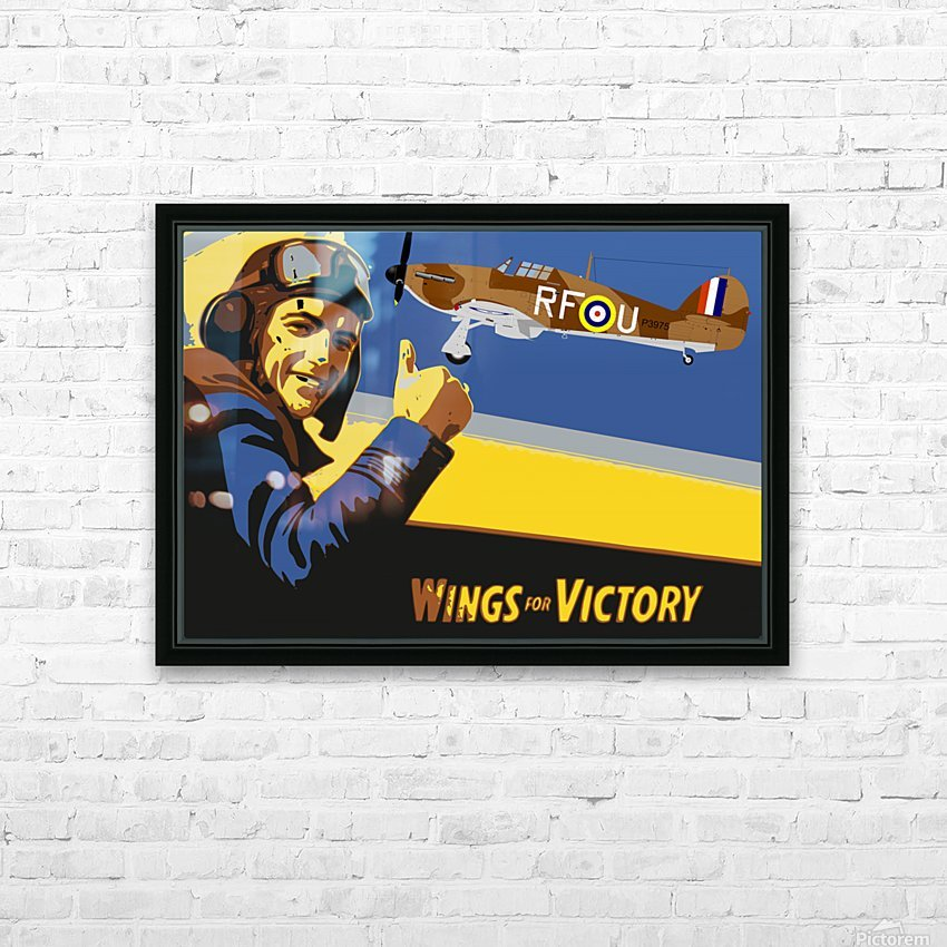 vintage war pilot airplane victory HD Sublimation Metal print with Decorating Float Frame (BOX)