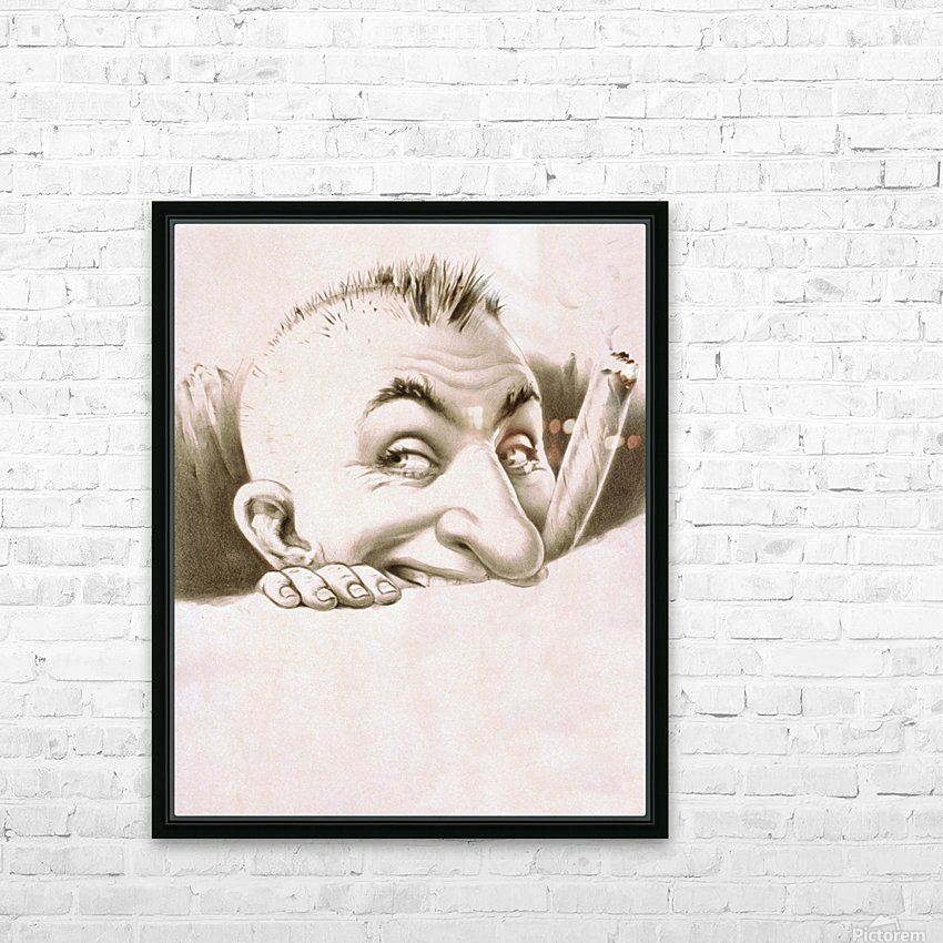 vintage poster man male people HD Sublimation Metal print with Decorating Float Frame (BOX)
