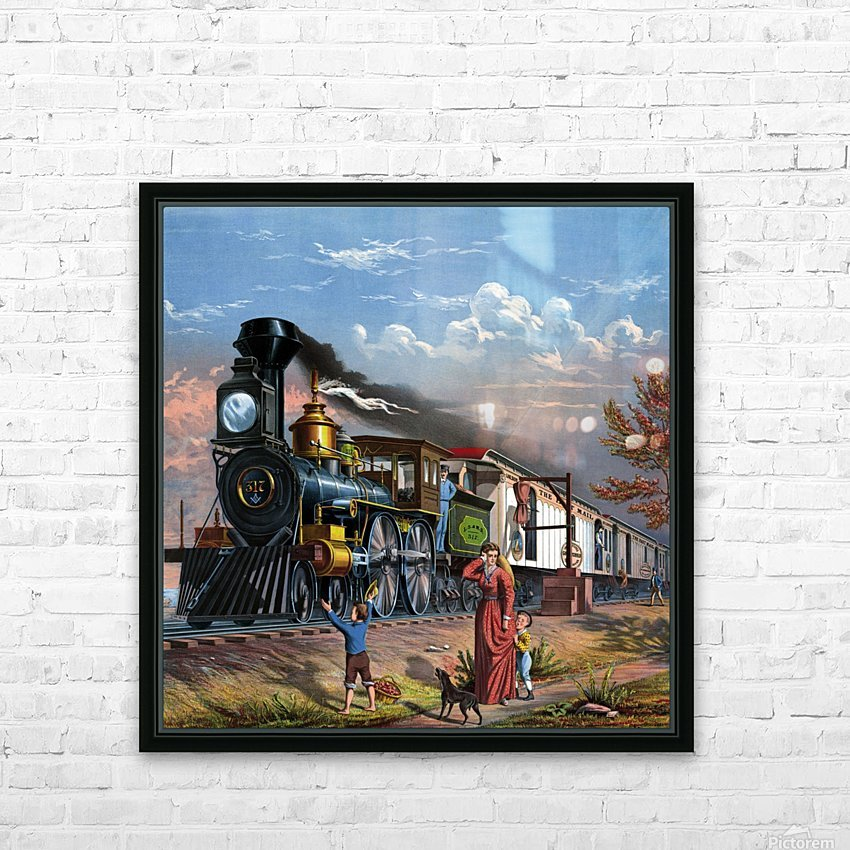 train mail train steam train people HD Sublimation Metal print with Decorating Float Frame (BOX)