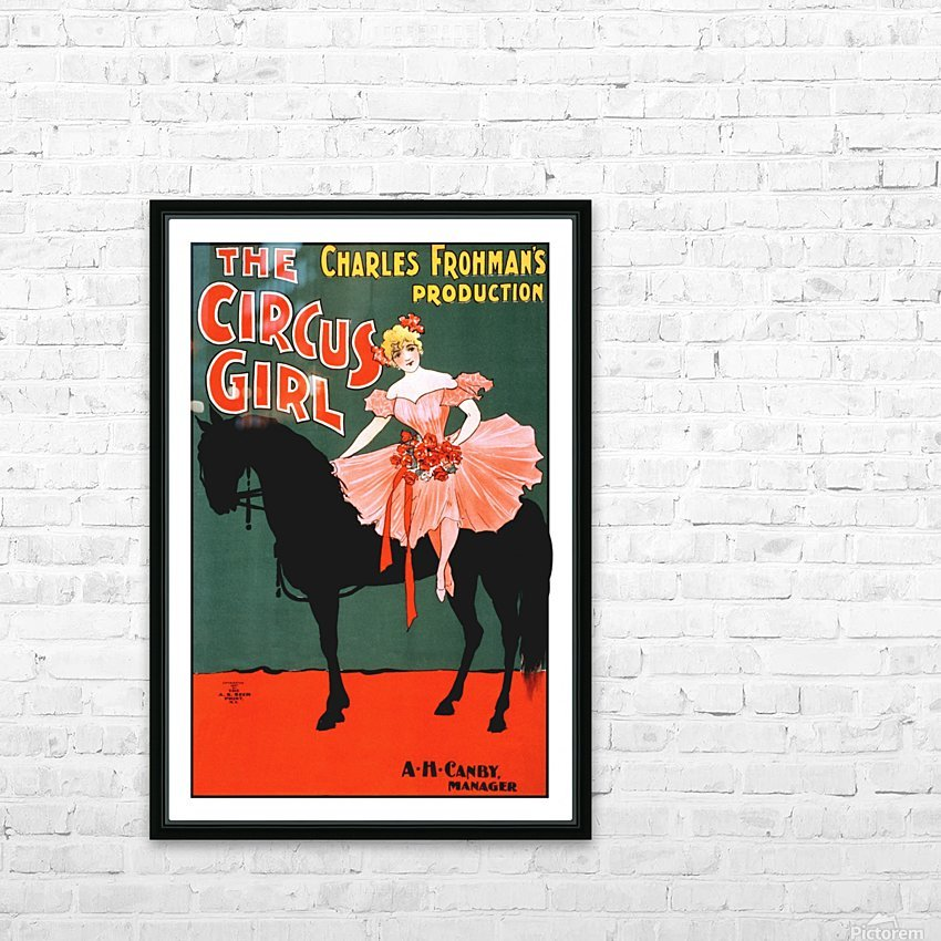 the circus girl vintage poster girl HD Sublimation Metal print with Decorating Float Frame (BOX)