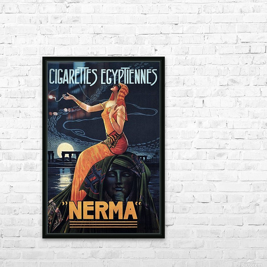 vintage poster print advertisement HD Sublimation Metal print with Decorating Float Frame (BOX)