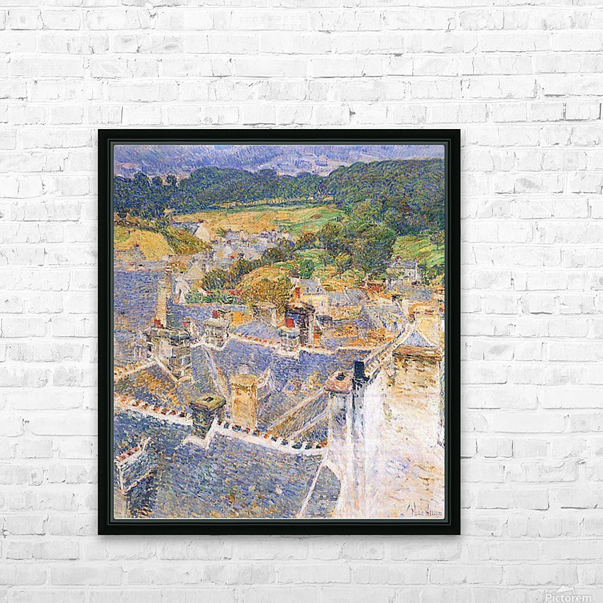 Roofs, Pont-Aven by Hassam HD Sublimation Metal print with Decorating Float Frame (BOX)