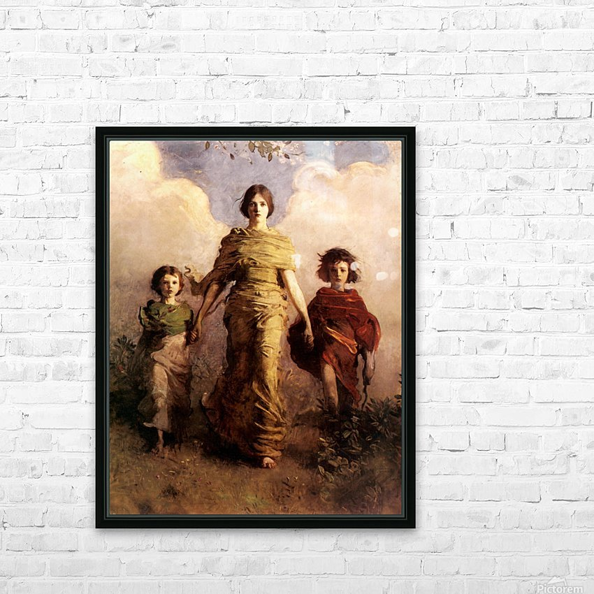painting artwork art vintage HD Sublimation Metal print with Decorating Float Frame (BOX)