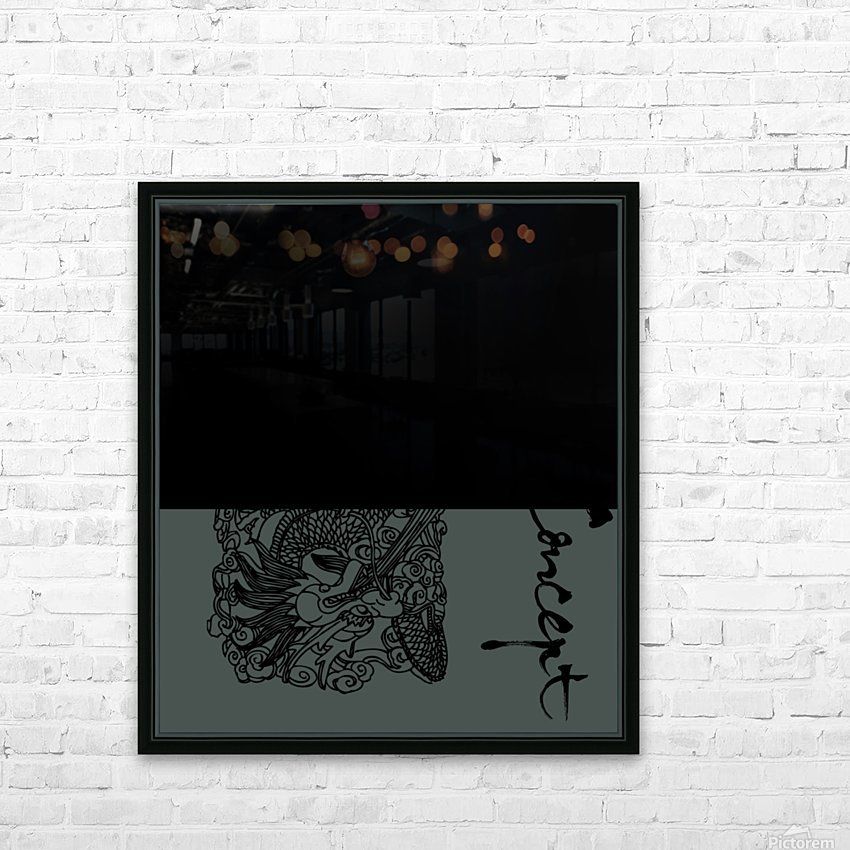 Chinese Concept 07A HD Sublimation Metal print with Decorating Float Frame (BOX)